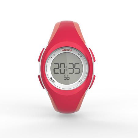 W200 S women's running stopwatch - Pink and Coral