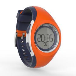 Montre chronomètre de course à pied W200 P orange et bleu