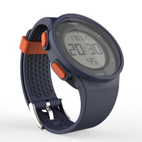 שעון עצר לריצה דגם W500 לגברים - כחול וכתום