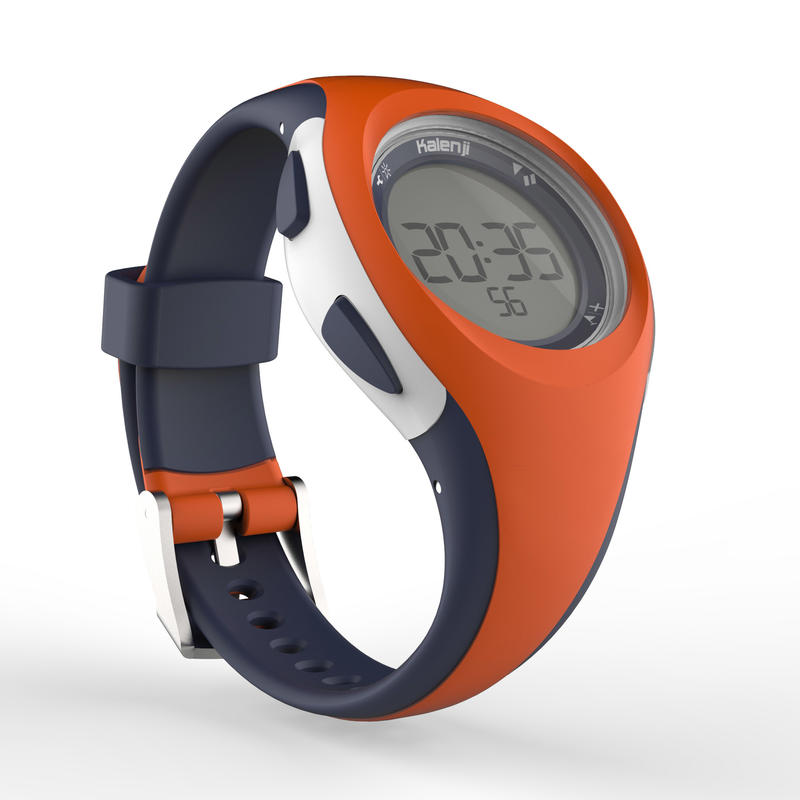 W200 S women's running stopwatch - Orange and Blue