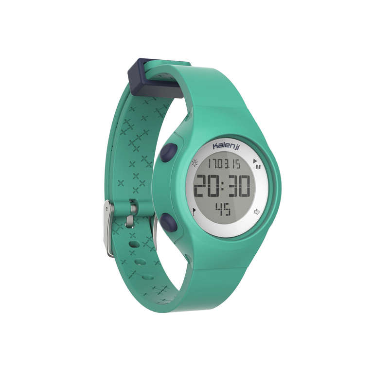 ATHLLE WATCHES OR STOPWATCHE Nordic Walking - W500 S sports watch green KIPRUN - Nordic Walking