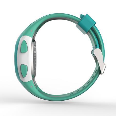 Montre chronomètre de course à pied W200 P verte pastel