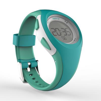 Montre chronomètre de course à pied W200 S verte pastel