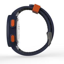 男款跑步腕錶W500 - 藍色與橘色