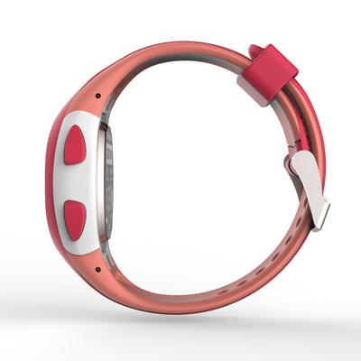 Montre chronomètre de course à pied W200 S rose et corail