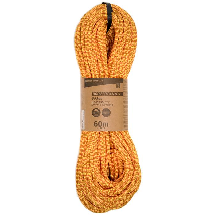 Cuerda semiestática Canyoning tipo B CANYON 9,5 mm x 60 m