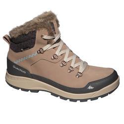 Dames wandelschoenen voor de sneeuw SH500 X-Warm mid bruin