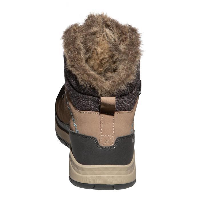 Chaussures de randonnée neige femme SH500 x-warm mid marron