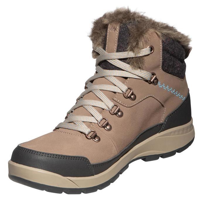 Botas de senderismo nieve mujer SH500 x-warm mid marrón.