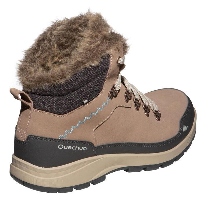 Winterschuhe Winterwandern 500 X-Warm wasserdicht Damen braun