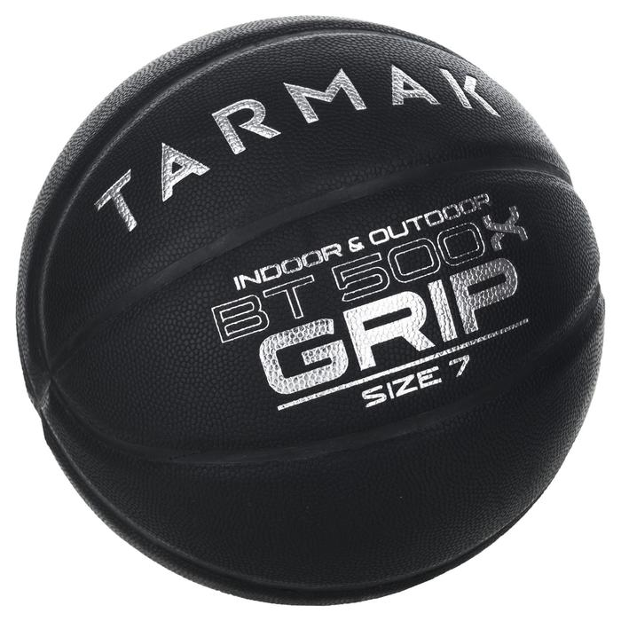 Ballon de Basket Adulte BT500 Grip Taille 7 - Noir Excellent Toucher de Balle