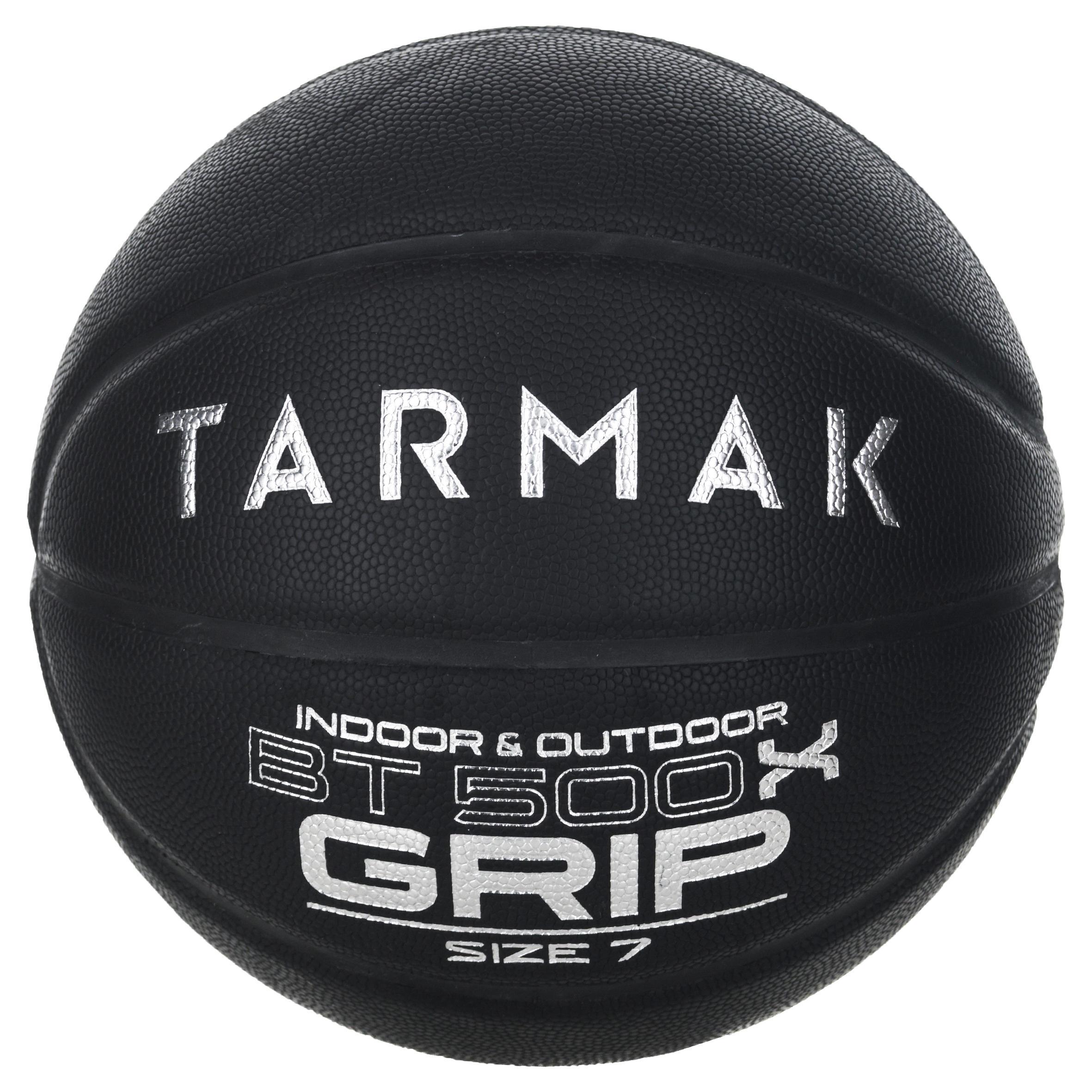 Basketball BT500 Grip Größe 7 Erwachsene schwarz Super Ballgefühl