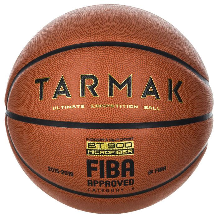 Ballon de basket BT900 de taille 6, homologué FIBA pour fille, garçon et femme
