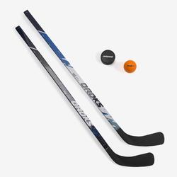 Ijshockeystick en puck set 100