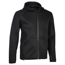 高階球員連帽籃球外套JB900–黑色
