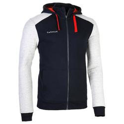 J500 Intermediate Basketball Hooded Zip-Up Jacket - Navy/Grey