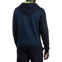 J500 Intermediate Hooded Zip-Up Basketball Jacket - Navy/Yellow