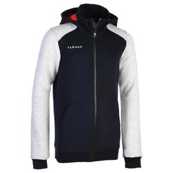B500 Intermediate Boys' / Girls' Basketball Jacket - Navy/Grey/Red