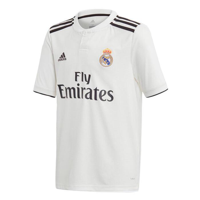 Voetbalshirt replica thuismodel van Real Madrid voor volwassenen wit 18/19
