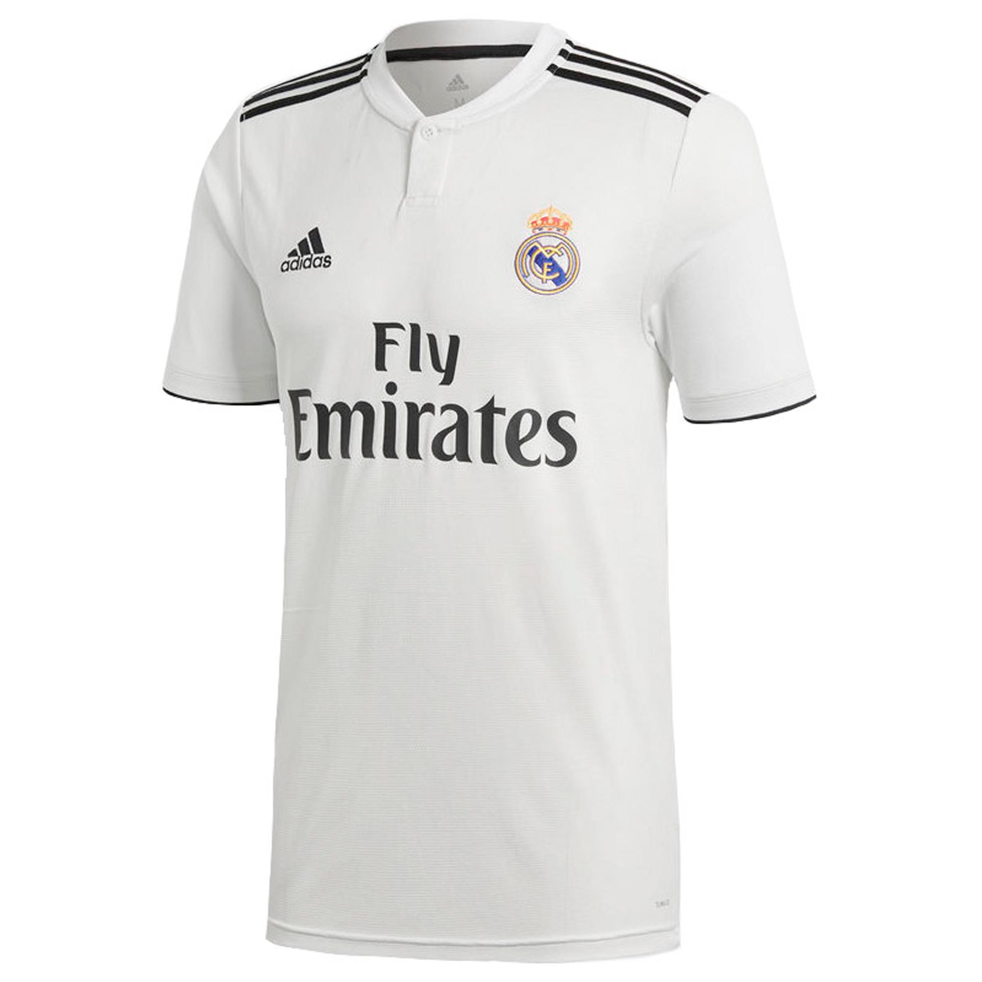 c1f8420de Camiseta de Fútbol Adidas oficial Real Madrid C.F. 1ª equipación niños  2018 2019