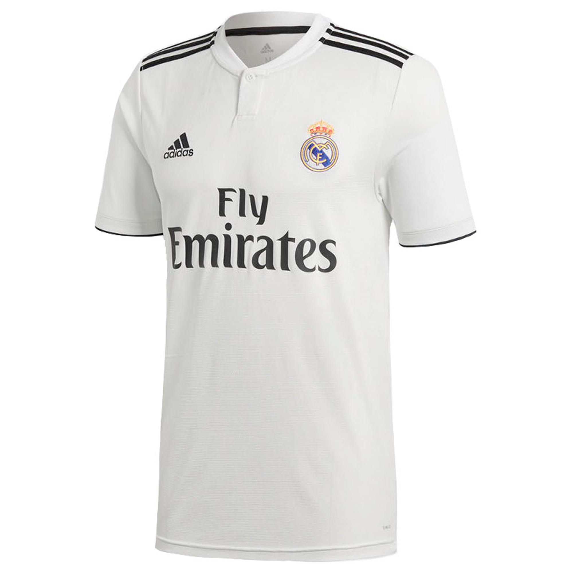 Kids Football Shirt Real Madrid Home Replica White 18 19 Adidas Decathlon