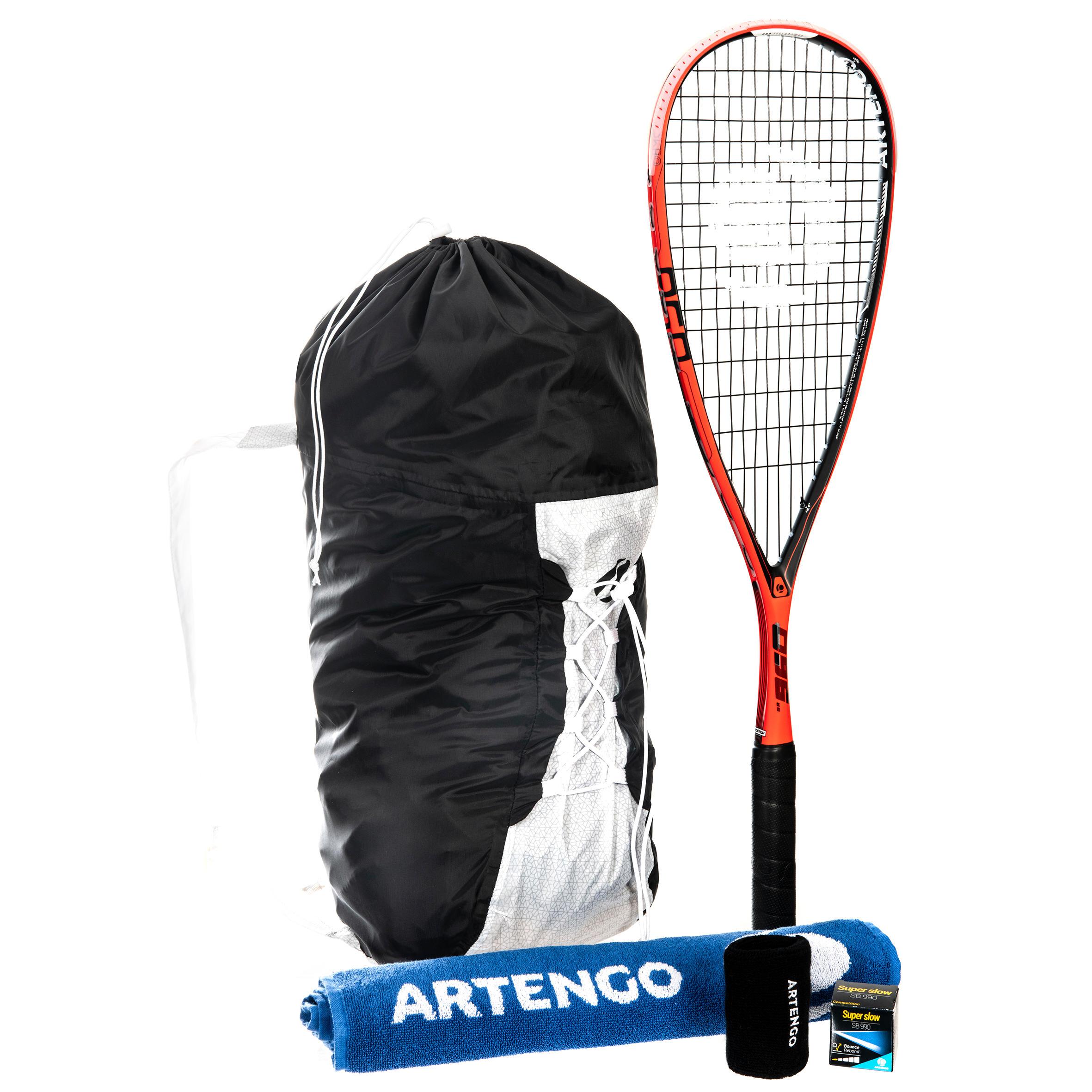 2d6f27b31e1 Artengo Set SR 960 (racket SR 960, rugzak, handdoek, bal SB990,