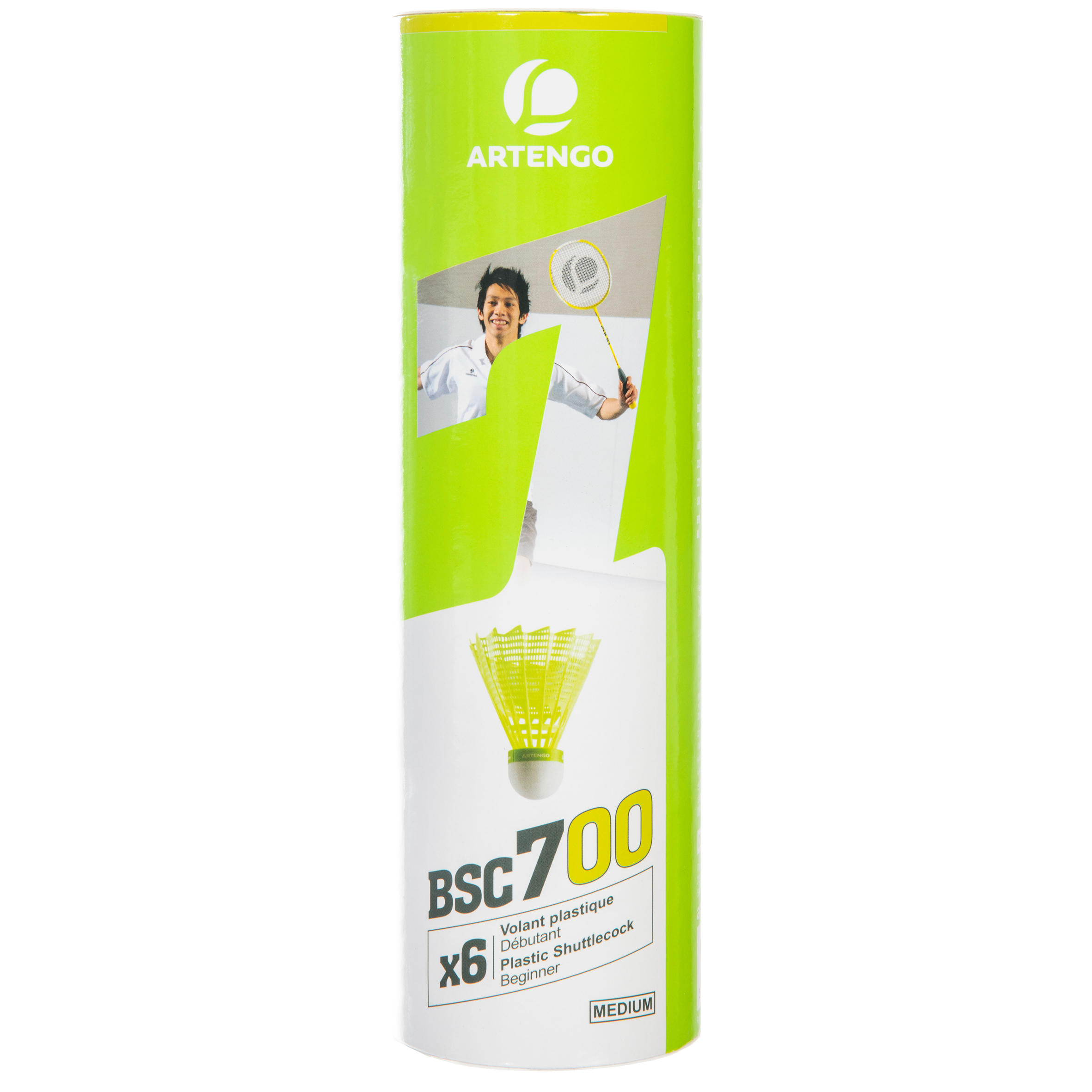 BSC700 Badminton Shuttle 6-Pack - Yellow