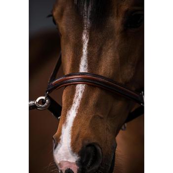 Cabestro cuero equitación caballo y poni 900 marrón