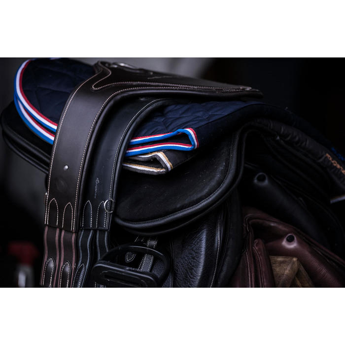Zadelonderlegger schuim ruitersport paard en pony 500 zwart