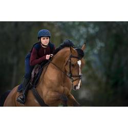 Casque équitation 500 marine/noir