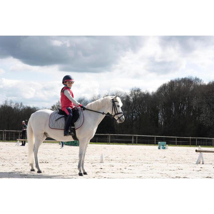 Tapis de selle équitation cheval et poney 500 gris pailleté/rose