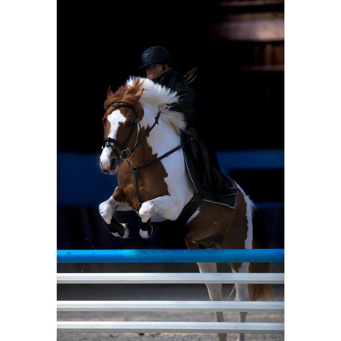 Bridon équitation 580 GLOSSY marron taille poney
