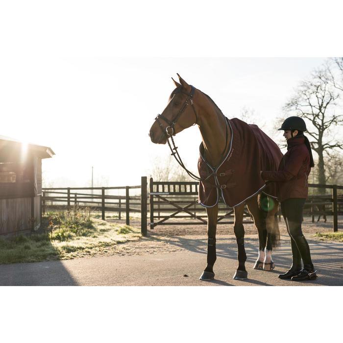 Manta ligera de cuadra equitación caballo y poni POLAR 500 burdeos