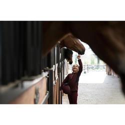 Casque equitación C120 burdeos/negro