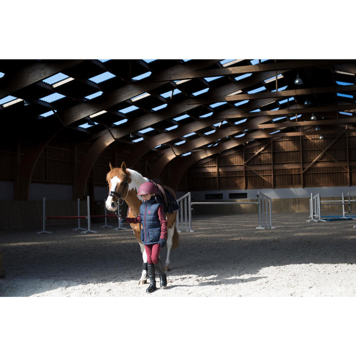 Pantalon chaud équitation enfant 100 WARM bordeaux