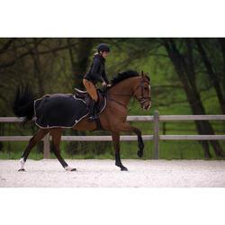 Manta riñonera equitación caballo y poni POLAR gris