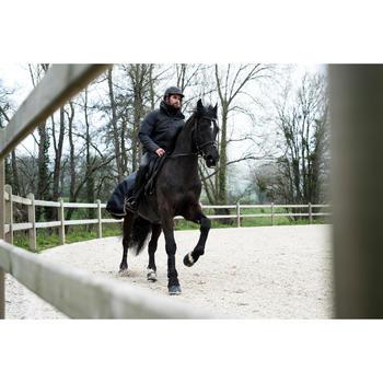 Cazadora Equitación Fouganza 500 Warm Hombre Gris Cálida e Impermeable