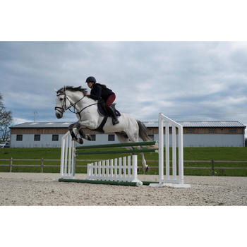 Pantalón Equitación Fouganza 100 Warm Mujer Burdeos Cálido Badana de Tela