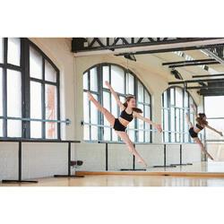 Danstopje met smalle gekruiste bandjes voor meisjes zwart