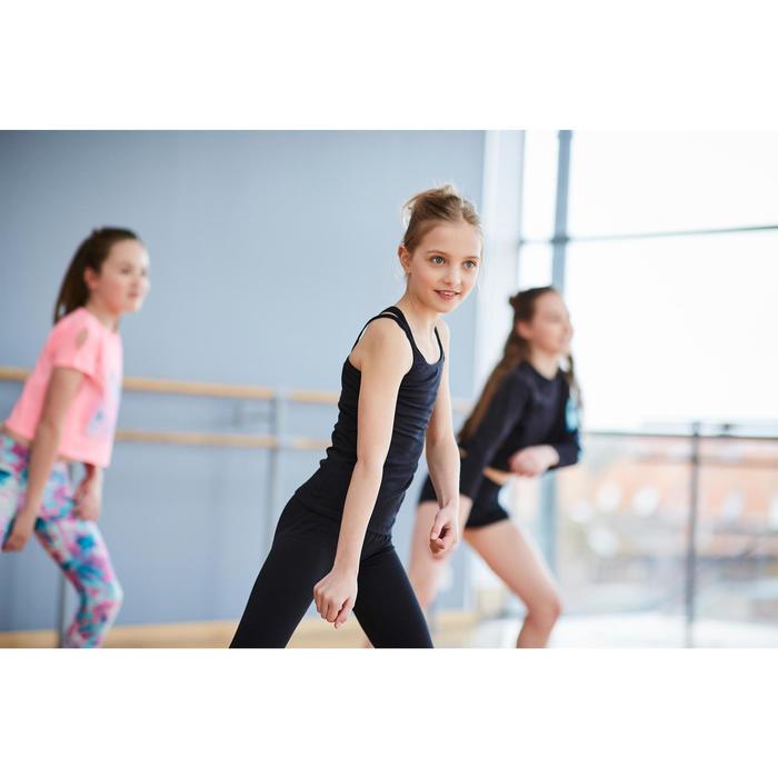 Tanz-Tunika mit Doppelträgern Kinder schwarz
