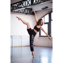 女款舞蹈短版交叉細肩帶上衣 - 黑色