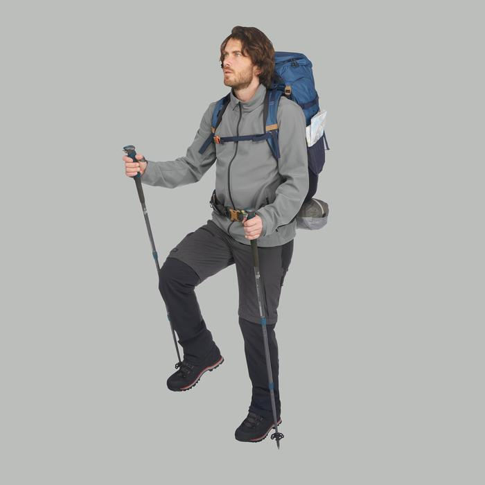 Chaqueta softshell trekking montaña TREK 100 WINDWARM hombre gris