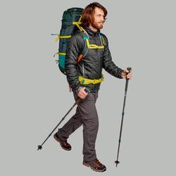 Pantalón transformable trekking montaña - TREK 100 hombre gris oscuro