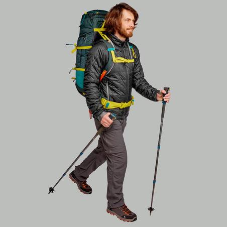 """Vīriešu kalnu trekinga modulārās bikses """"Trek 100"""", tumši pelēkas"""