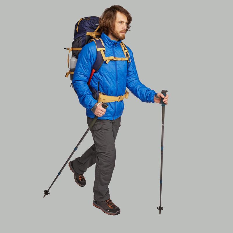 Men's Mountain Trekking Padded Jacket Trek 100 - Blue