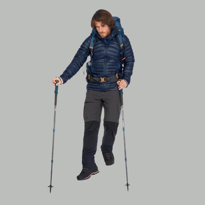 Donsjas voor bergtrekking heren Trek 100 marineblauw