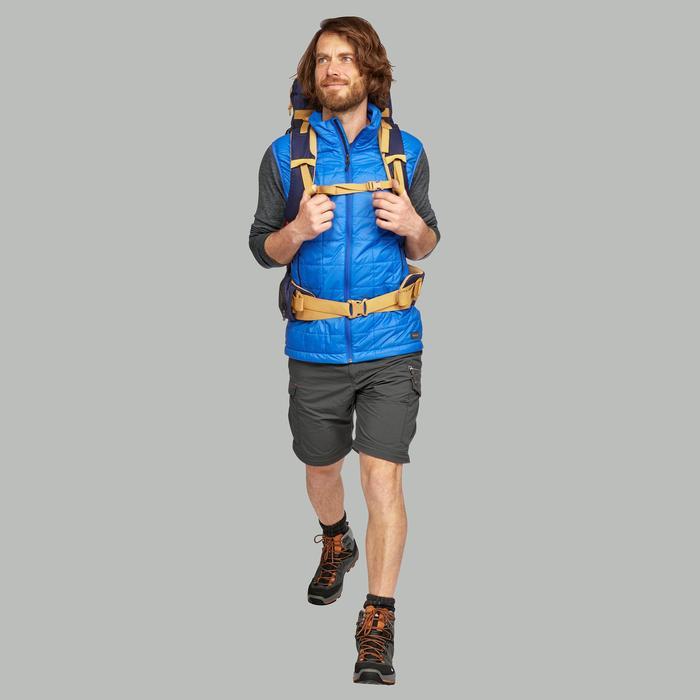 Chaleco acolchado trekking en montaña TREK 100 hombre azul