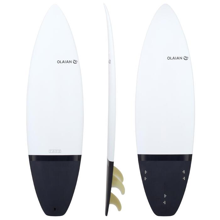 Tabla de surf rígida 6' shortboard 900.Se entrega con 3 quillas.