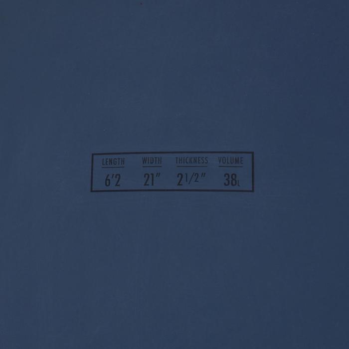 硬式蛋板衝浪板900 6'2。附3片板舵。