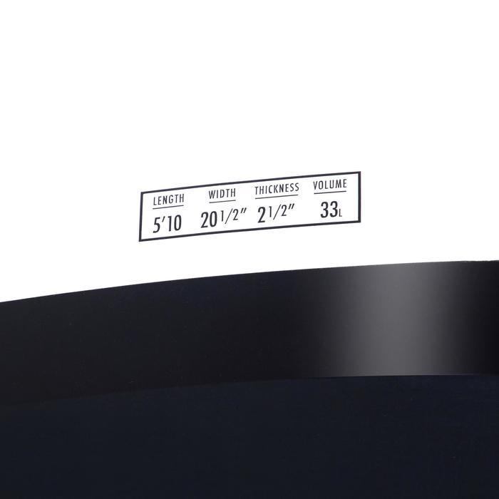 """硬式短版衝浪板900 5'10""""。附3片板舵。"""